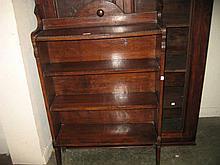 Early 20th Century oak four shelf open bookcase