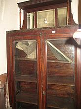 19th Century mahogany bookcase with two glazed doors (a/f) together with a walnut dressing chest (a/f)