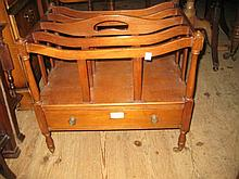 Mahogany four division Canterbury in George III style