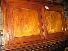 Mahogany two door medicine cabinet with wall bracket