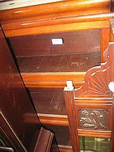 Pair of Globe Wernicke mahogany three section bookcases