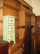 Large 19th Century pine dresser, the boarded shelf back above three drawers and four cupboard doors on a plinth base