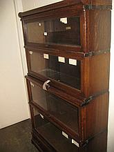 Oak Globe Wernicke four section bookcase