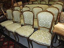 Set of six similar drawing room chairs