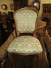 Set of ten mid 20th Century elbow chairs with plush upholstery