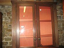 Modern mahogany two door wall cupboard