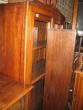 Victorian satin birch bookcase top