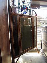 19th Century bamboo dwarf standing corner cabinet