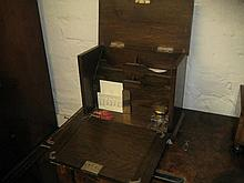 Early 20th Century oak table top stationery box