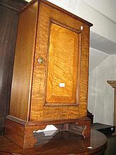 Small walnut single door side cabinet