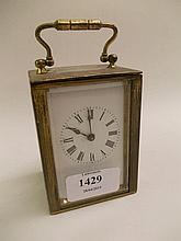 Modern gilt brass cased carriage clock