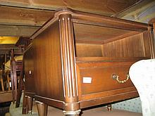 Pair of reproduction mahogany single drawer bedside tables