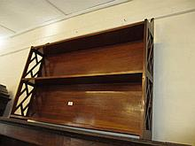 Reproduction mahogany three shelf wall bracket