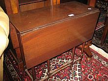 Edwardian mahogany rectangular drop-leaf spider leg Sutherland table