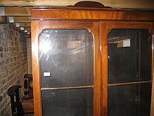 1930's Walnut two door glazed bookcase