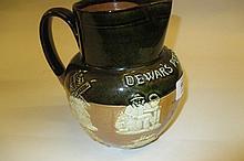 Doulton Lambeth, Dewars, Perth whisky stoneware water jug