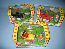 Group of three Corgi boxed ' Noddy in Toyland ' toys and a boxed indoor carpet golf game