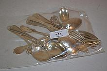 Quantity of various silver spoons etc