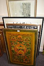 Quantity of miscellaneous large framed prints