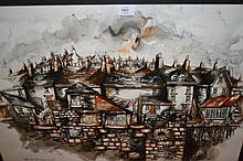 Anthony Greville, 20th Century mixed media Caffa Mill Pill, Fowey, Cornwall, signed and dated 1984, 21ins x 29ins, framed