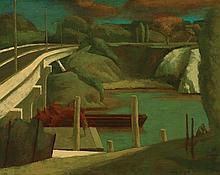RICK AMOR born 1948 Old Quarry by a Freeway 1991