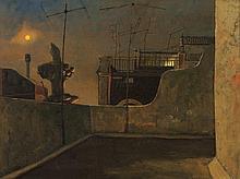 RICK AMOR born 1948 Rooftop, Barcelona Studio 1991