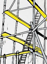 JASPER KNIGHT born 1978 Scaffold No.1 2010 enamel,