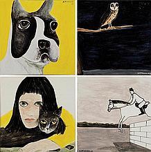 NOEL McKENNA born 1956 (i) Boston Terrier (ii) Owl