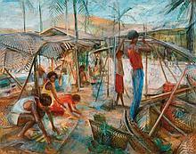 MARGARET OLLEY (1923-2011) Island Scene (New