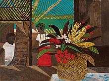 RAY CROOKE born 1922 (Island Still Life) oil on