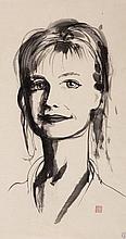 BRETT WHITELEY (1939-1992) (Portrait of Arkie