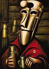 PRO HART (1928-2006)  Oil Can Harry  oil on board