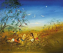 DAVID BOYD (1924-2011) (Spring Picnic) oil on