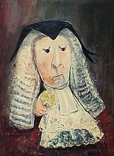DAVID BOYD (1924-2011) Lady Judge oil on board