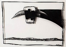 JOHN KELLY born 1965 Head in a Landscape 2002laser