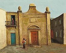 SALI HERMAN (1898-1993) Courtyard Serenade 1979oil