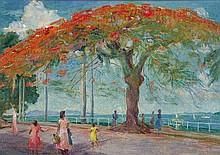 MARY EDWARDS (1897-1988) Poinciana Tree, Victoria