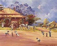 D'ARCY DOYLE (1932-2001) (Match Practice) oil on
