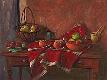 MARGARET OLLEY (1923-2011) Still Life with Apples
