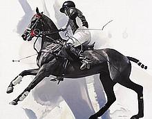 LAWRENCE STARKEY born 1959 Polo Pony & Rider oil