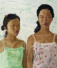 ZHONG CHEN born 1969 Jessica and Friend 2007 oil