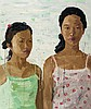 ZHONG CHEN born 1969 Jessica and Friend 2007 oil