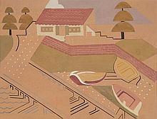 GRACE CROWLEY (1890-1979) Boat House c1929 gouache