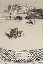 BRETT WHITELEY (1939-1992) Platypus 1978 pen,