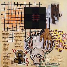 GORDON BENNETT born 1955 Notes to Basquiat: Hand