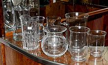 A Collection Of Glass Jugs and Vases