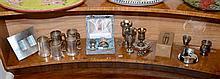 A Shelf Lots of Metalwares including tankards