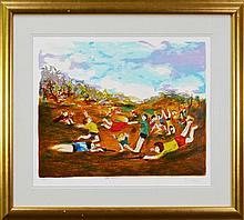 David Boyd (1924 - 2011) - War Games 59 x 77cm