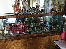 A Shelf Lot of Decorative Wares including Geisha, Bean Dolls etc