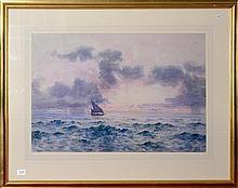 Arthur Boyd Snr- Boating, watercolour, 39x58cm, signed lower left.